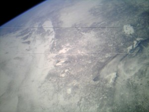 MC2 captured a snow covered Midwest today, her first photo downloaded from the mission.