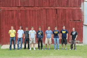 MXL students after recovering the balloon payload west of Clinton, MI.