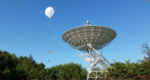 The 600 g tethered balloon next to the Peach Mountain Radio Observatory.