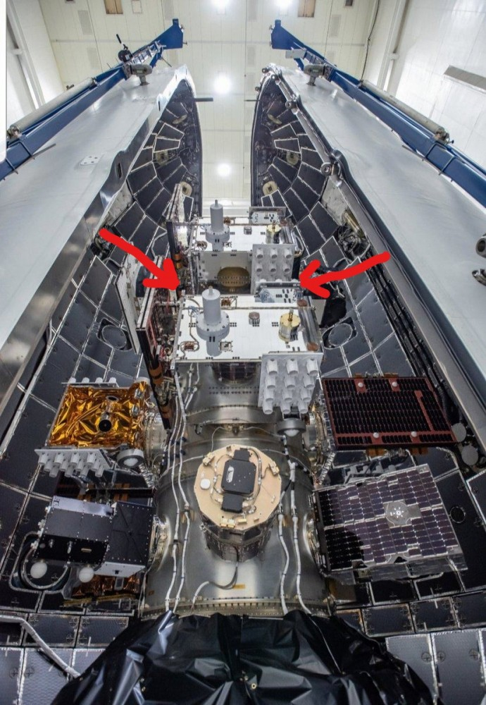 Location of the PPods inside the fairing.